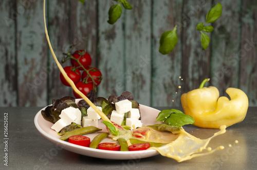 Fototapeta sałatka ze świeżych warzyw obraz