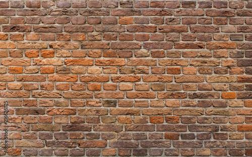 Brick Wall Background. Uneven Brick Texture. - 216626025