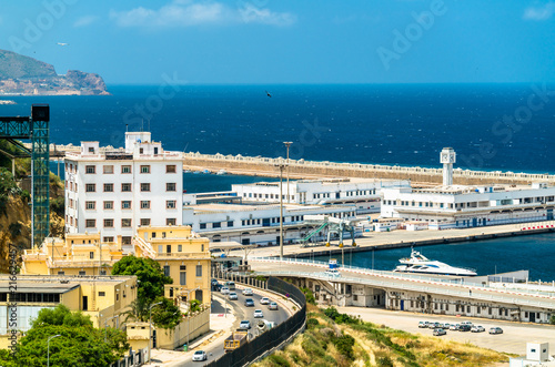 Keuken foto achterwand Historisch geb. Port of Oran, a coastal city in Algeria