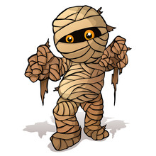 Vector Isolated Illustration Of A Merry Mummy For Halloween