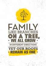 Family Like Branches On A Tree...