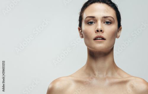 Fotografie, Obraz  Natural beauty with beautiful skin