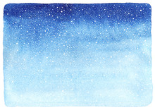 Winter Watercolor Horizontal G...