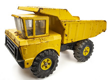 Vintage Yellow Toy Truck
