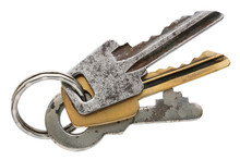 Three Old Rusty Vintage Keys C...