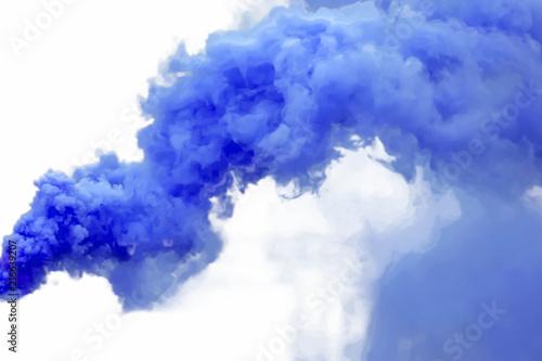Tuinposter Rook Blue smoke