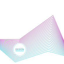 Abstract Background With Gradient Color Refracted Lines. Futuristic Hipster Vector Illustration.