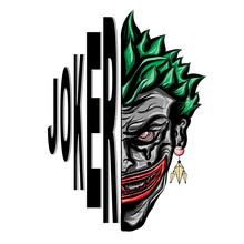 Joker Smiling Face Vector