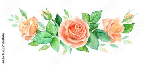 Fotografía Watercolor bouquet of flowers