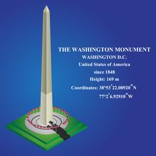 Isometric Vector Of The Washington Monument. Vector Illustration