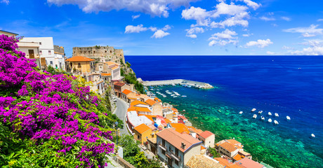 Beautiful coastal town Scilla in Calabria. Italy
