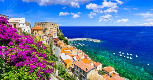 Poster Cote Beautiful coastal town Scilla in Calabria. Italy