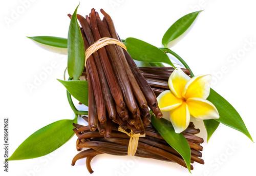 Fotobehang Aromatische gousses fraîches de vanille Bourbon