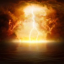Apocalyptic Religious Background - Hell Realm, End Of World, Judgement Day