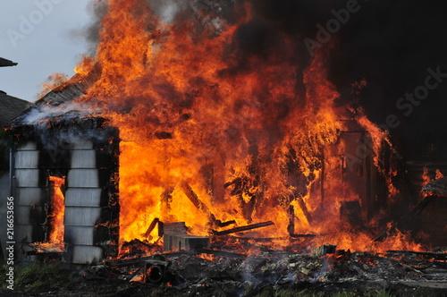In de dag Vuur Practice Burn House fire