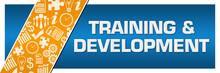Training And Development Orange Business Element Blue Left Side