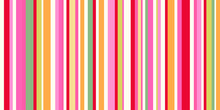 Seamless Pattern With Vertical Lines. Striped Multicolored Background. Abstract Texture. Geometric Wallpaper Of The Surface. Print For Polygraphy, T-shirts And Textiles. Doodle For Design
