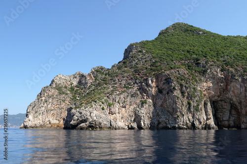 rock formation at paradise beach of Liapades at Corfu Island