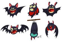Vampire Bat Vector Cartoon Cha...