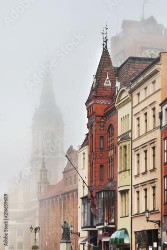 Szeroka street in Torun.  Poland Fototapeta