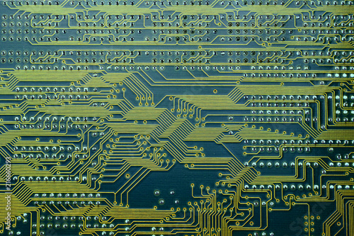 Enjoyable Electronic Circuit Board With The Copper Wiring Connections Visible Wiring 101 Kniepimsautoservicenl