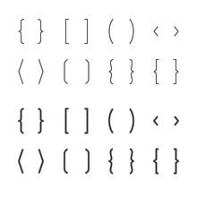 Brackets Flat Line Icons. Brac...
