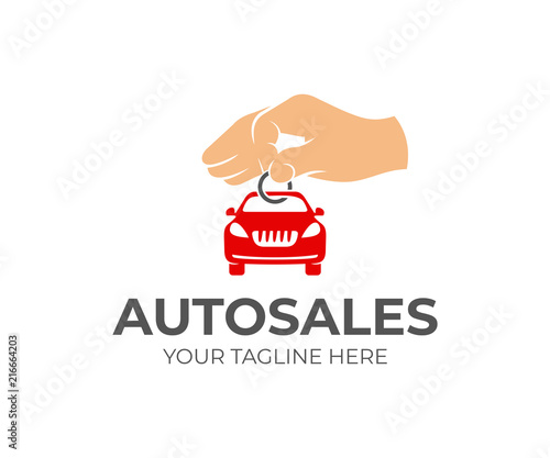 Sale Of Cars Hand Holds Key Chain With Machine Logo Design Autodealer Car Showroom And Transport Vector Design Transportation And Vehicle Illustration Buy This Stock Vector And Explore Similar Vectors At