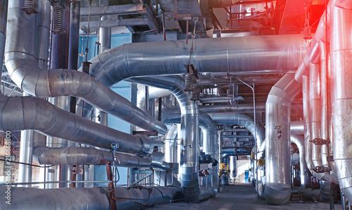 Papiers peints Pays d Afrique Industrial Steel pipelines, valves, cables and walkways