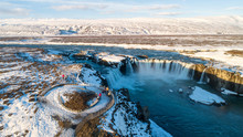 The Godafoss Is A Waterfall In...
