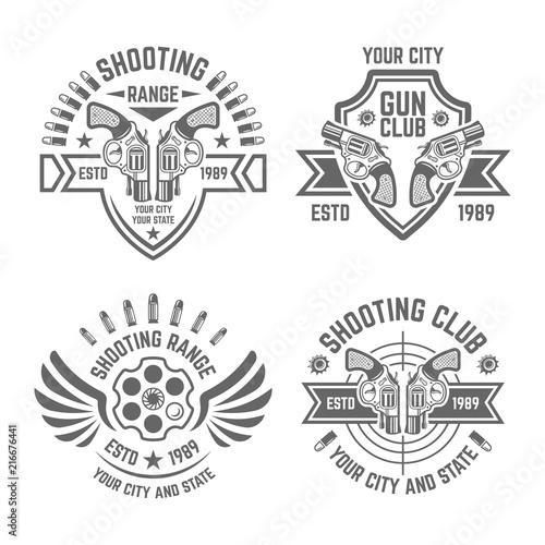 Shooting range or shooting club vector emblems - Buy this stock