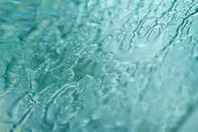 The Texture Of The Water On The Glass From Heavy Rain Soft Focus