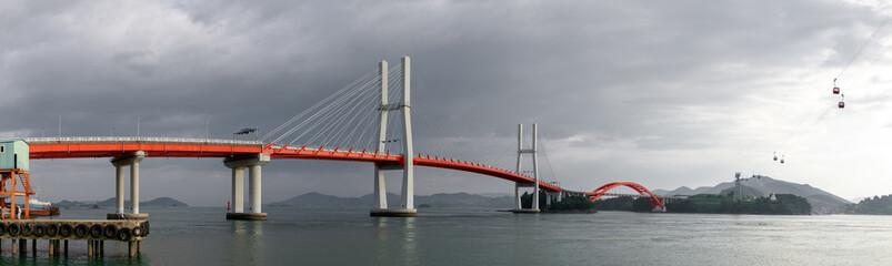 Changseon-Samcheonpo Bridge in Sacheon city in Korea