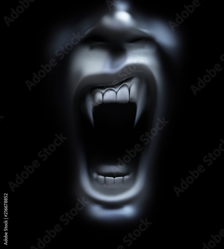 Photo vampire screaming