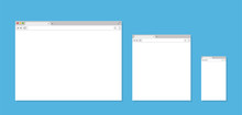 Three Different Browser Window...