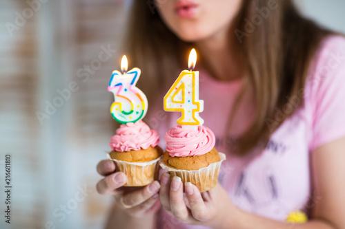 girl eating a cupcake Poster