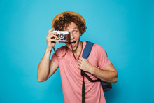 Photo Of Excited Traveler Man ...