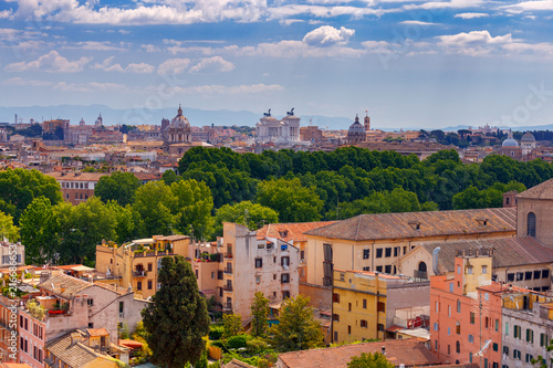 Photo Stands Europa Rome. View of the city from the Aventine hill.