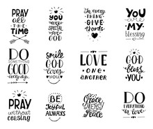 Set Of 12 Hand Lettering Chris...