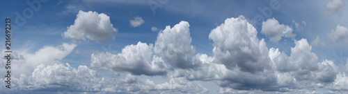 Obraz Blue sky with white clouds - fototapety do salonu