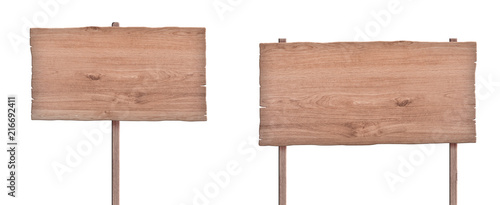 nature wood sign isolated on white background 4 Canvas Print
