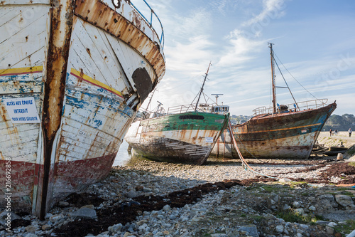Foto op Plexiglas Schip Cimetière de bateaux Camaret