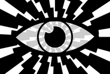 Eye Abstract Background - Blac...