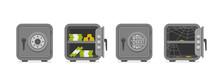 Set Of Security Metal Safes. F...