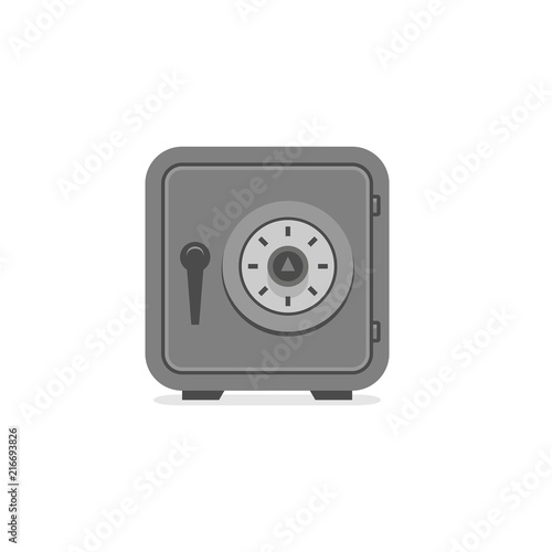 Fototapeta Steel safe. flat style. isolated on white background obraz