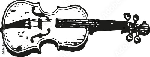 Fotografija vintage violin icon