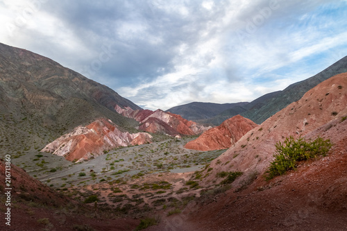 Papiers peints Cappuccino Mountains and landscape of Purmamarca - Purmamarca, Jujuy, Argentina