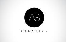 AB A B Logo Design With Black ...