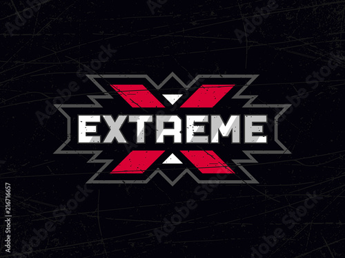 Modern professional vector emblem extreme in black theme Wallpaper Mural