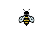 Creative Geometric Bee Logo Design Illustration