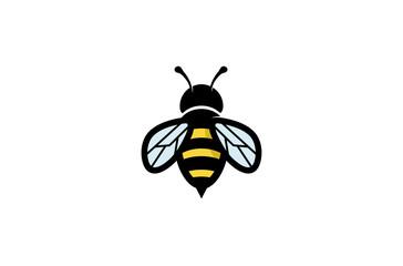Kreativna geometrijska ilustracija dizajna logotipa pčela